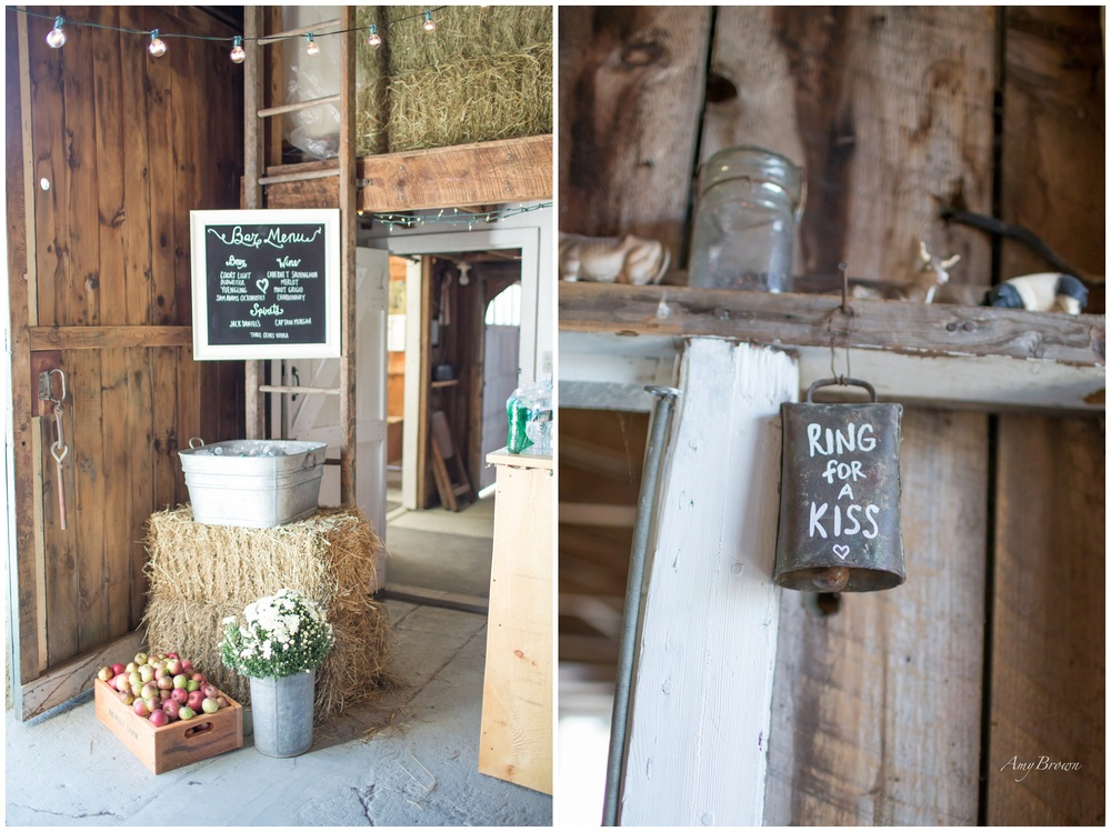 Seacoast NH Wedding Photographer |  Sugar Shack Wedding Bar |Barn Wedding Decorations | Amy Brown Photography