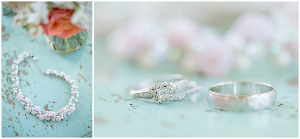 Seacoast NH Wedding Photographer | Pink and Pearl Wedding Jewelry | NH Farm Wedding | Amy Brown Photography