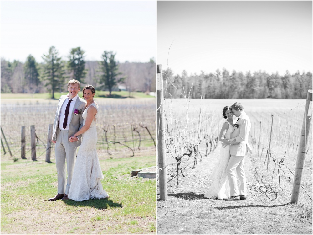 Southern New Hampshire Wedding Photographer  | Distillery Wedding Flag Hill Winery Lee, New Hampshire Spring Wedding | Amy Brown Photography