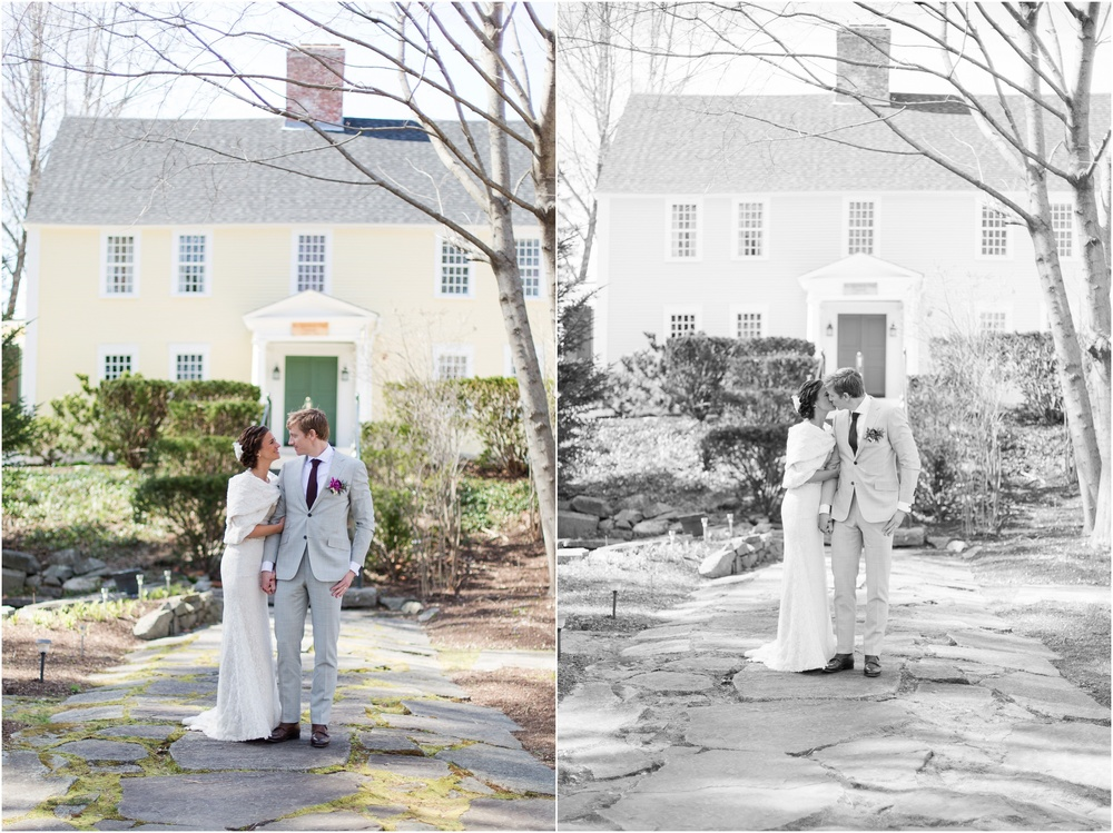 Southern New Hampshire Wedding Photographer  | Bride and Groom Portraits At Three Chimneys Inn Durham New Hampshire | Amy Brown Photography