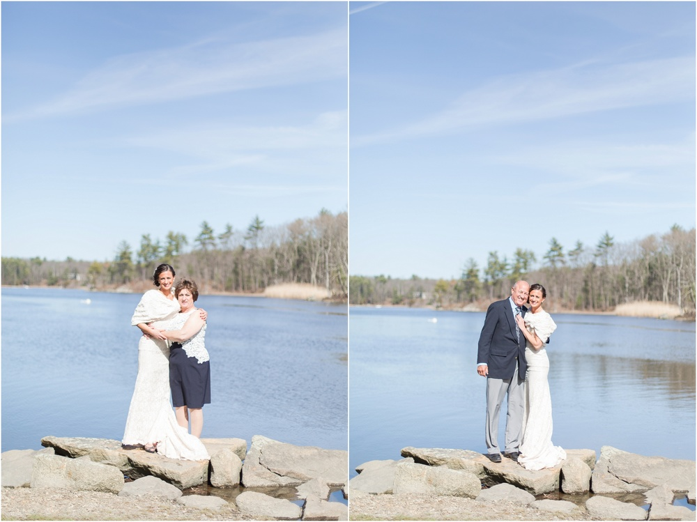 Southern New Hampshire Wedding Photographer  Mom and Dad Bridal Portraits Great Bay New Hampshire | Amy Brown Photography