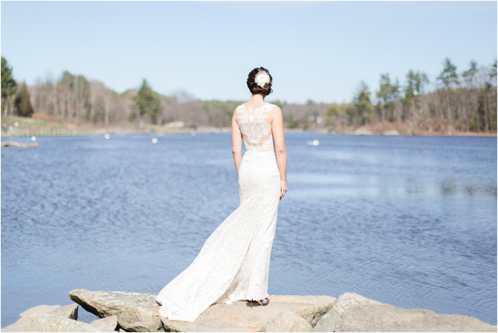 Southern New Hampshire Wedding Photographer  | Anthrophologie Bridal Line Wedding Dress | NH Great Bay Bridal Photos | Amy Brown Photography