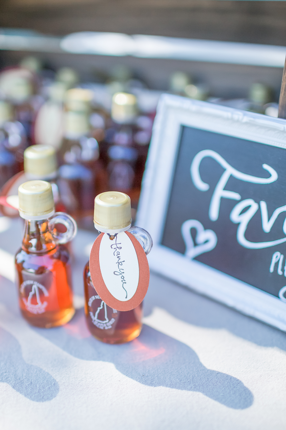 New Hampshire Farm Wedding | Maple Syrup Wedding Favors | Horse Drawn Waggon Prop | Amy Brown Photography