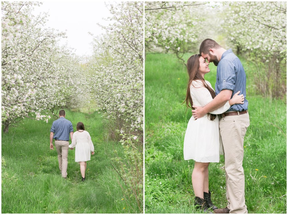 NH Wedding Photographer | Seacoast NH Epping, NH | Apple orchard Engagement Session
