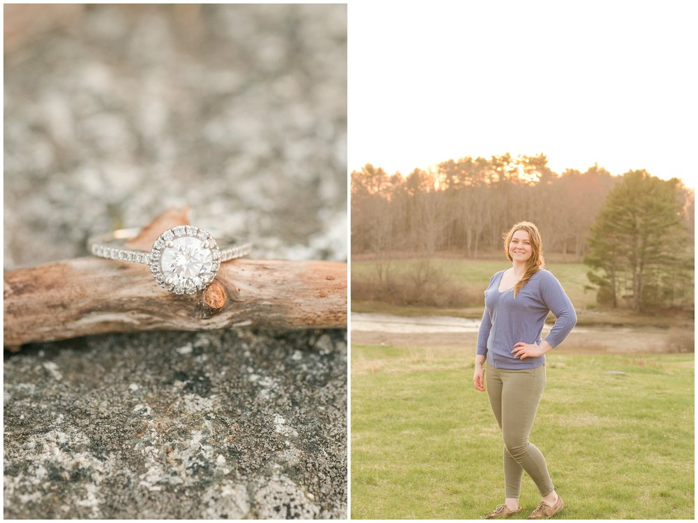 Wagon Hill Durham NH Engagement Session Rivermill at Dover Landing Wedding