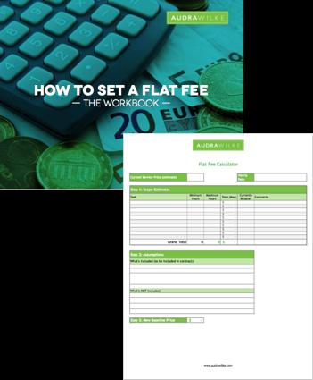 How to Set a Flat Fee workbook