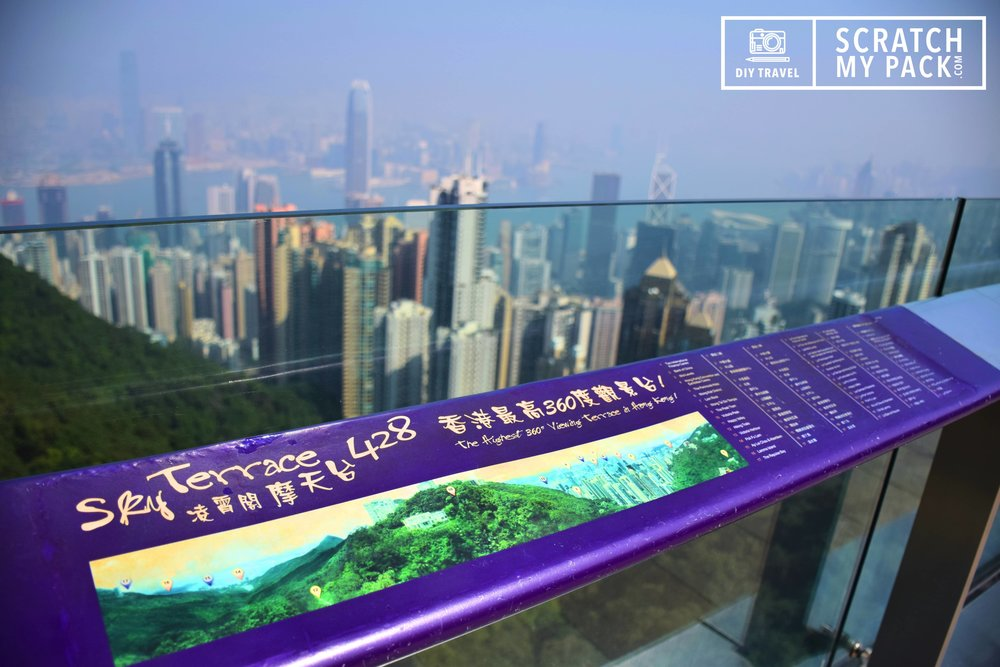 The Sky Terrace 428 -     Cost $6.50 - The Sky Terrace 428, standing at 428 meters above sea level, is the highest viewing platform in Hong Kong offering a stunning 360-degree panoramic view across the Hong Kong. This is a perfect place to get that quintessential picture of Hong Kong. The view is good any time of day, though we reckon the evening time, at sunset would offer perfect lighting.