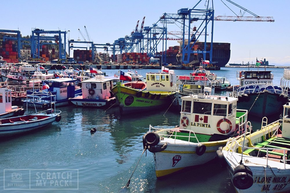 Take a boat tour of the Port  -  Cost $1 -  Tours are 30 minutes long and they depart from Muelle Prat, as soon as they have a boatload. Included in the cheap price is a tour guide who will point out all the historic sights around the port.