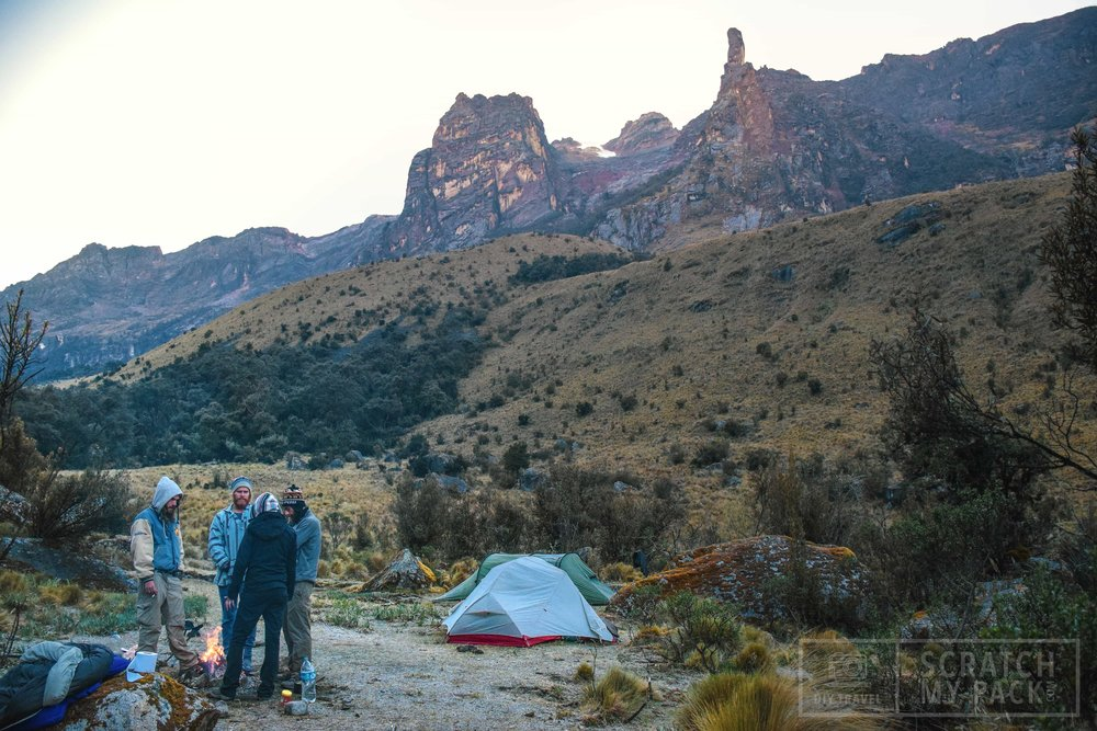 First campsite, just past Paira