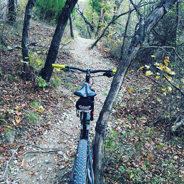 What do you do when it's almost 80 degrees in November? Go slay your nearest #singletrack of course. #smoothlube