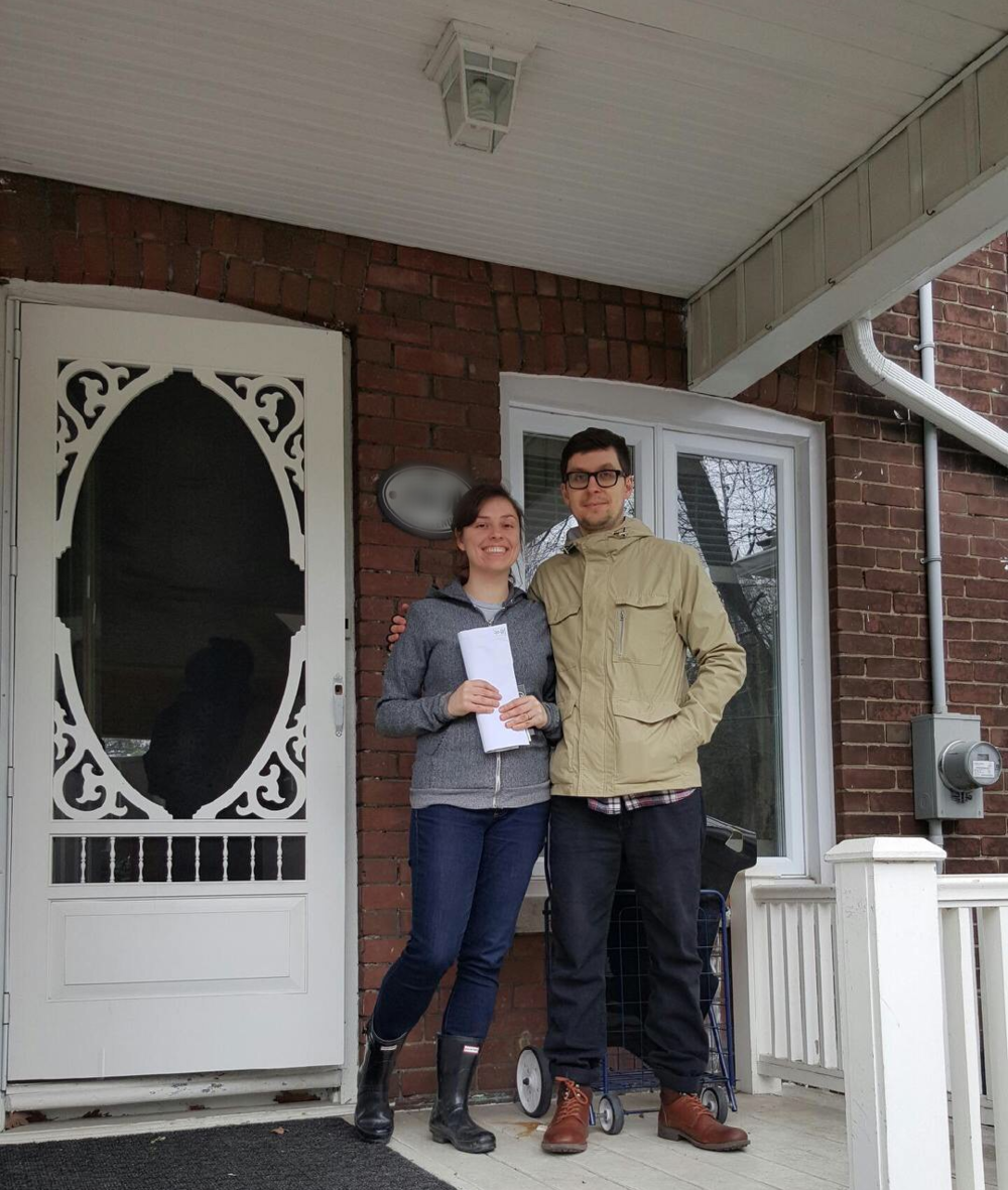 Tired, but happy homeowners!