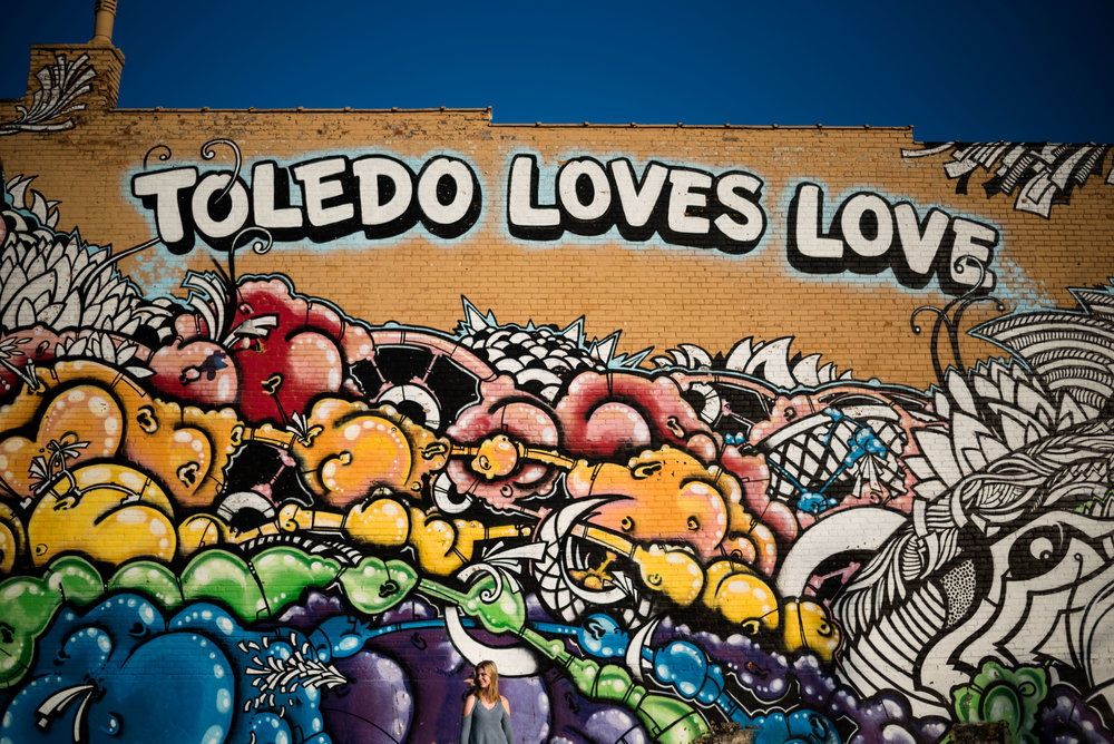 toledo loves love mural