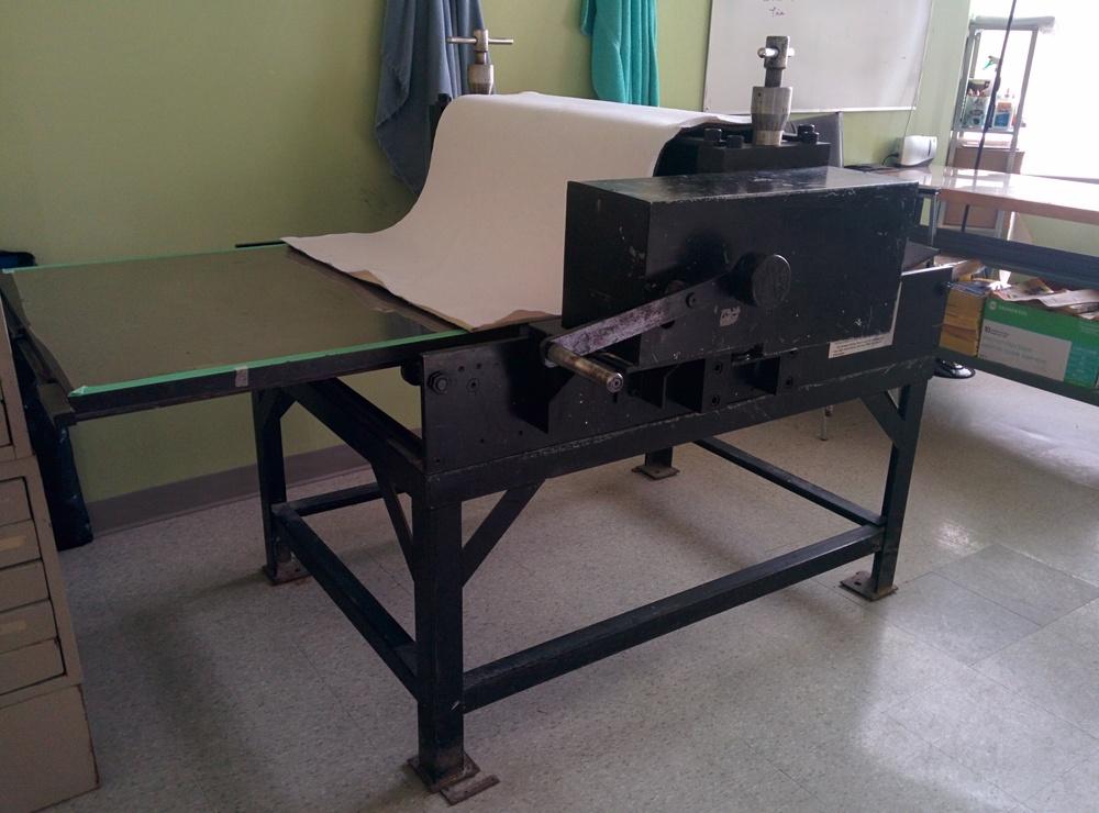Charles Brand Etching press