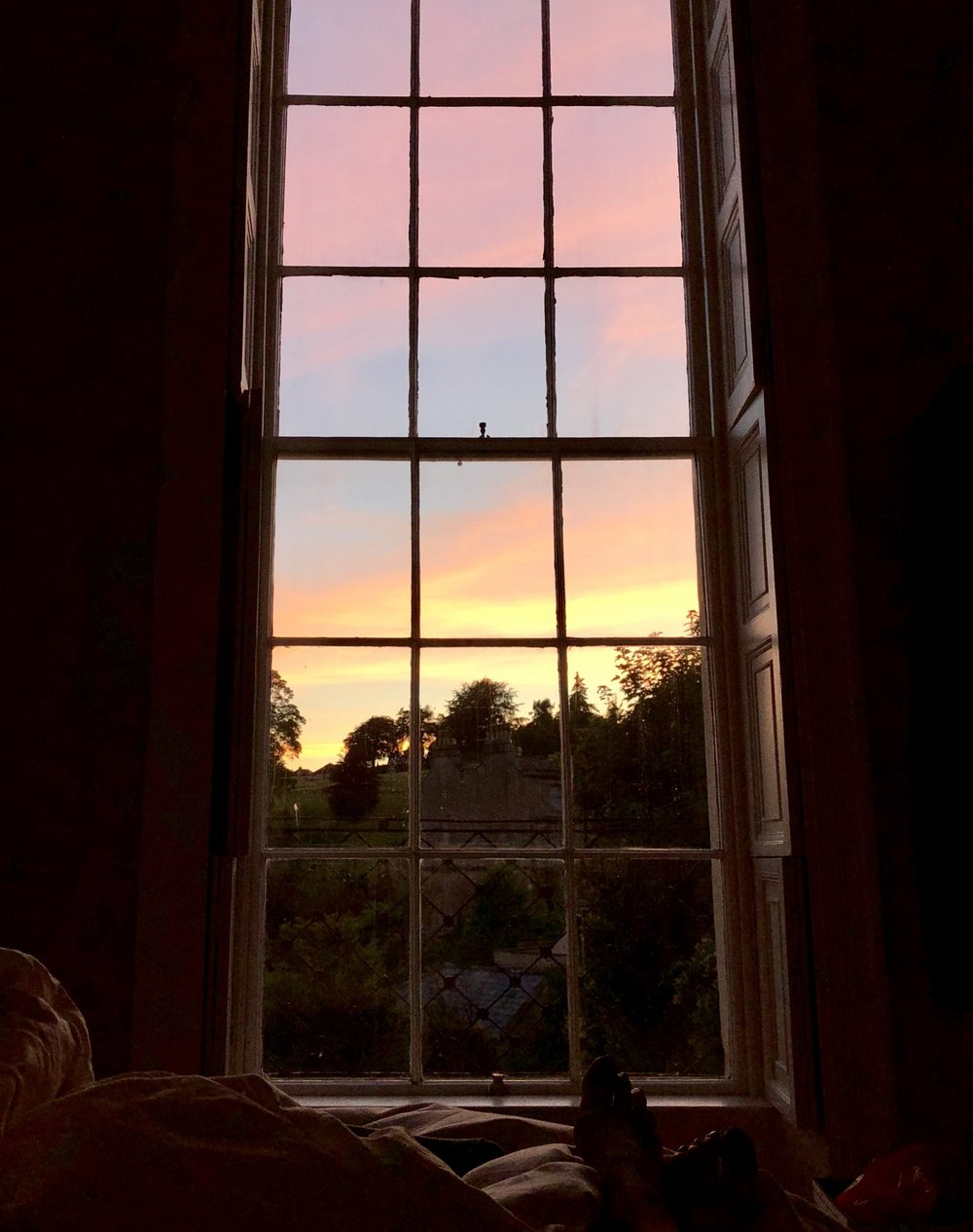 The summer sunset from my bedroom window