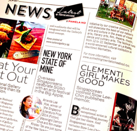 """New York State of Mine""    -- Pamela Ho, A-List, September Edition, 2015"