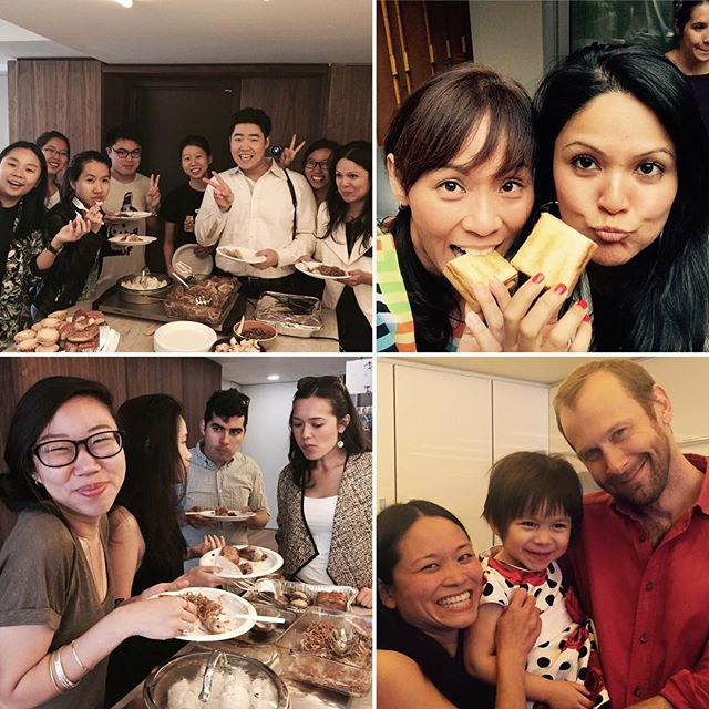 Friendship makes everything taste great! Especially kaya toast and bee Hoon! Thank you so much Kat and George (bottom left) for hosting!!