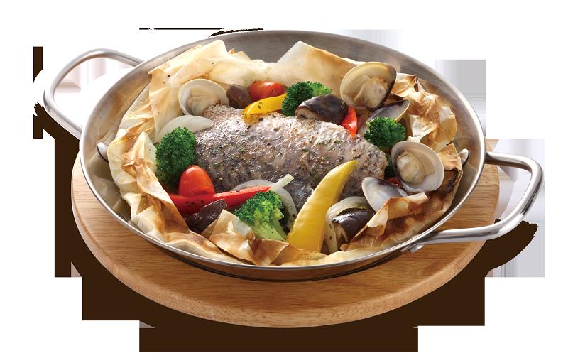 爐烤紙包魚   $280