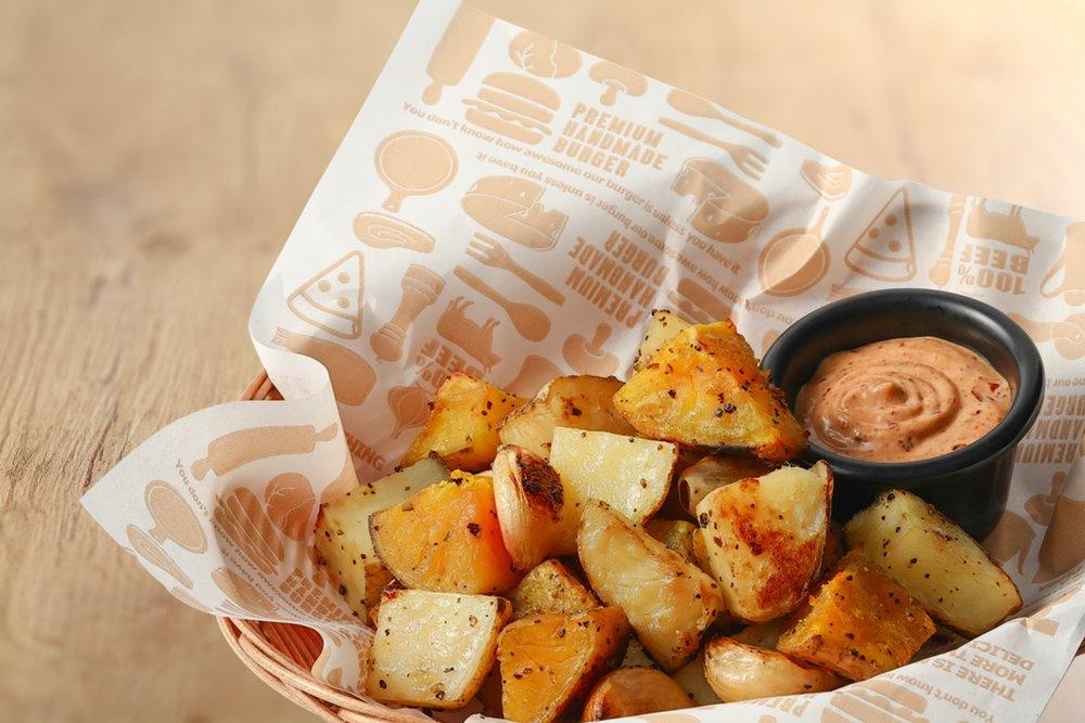 蒜味窯烤薯薯 $ 99