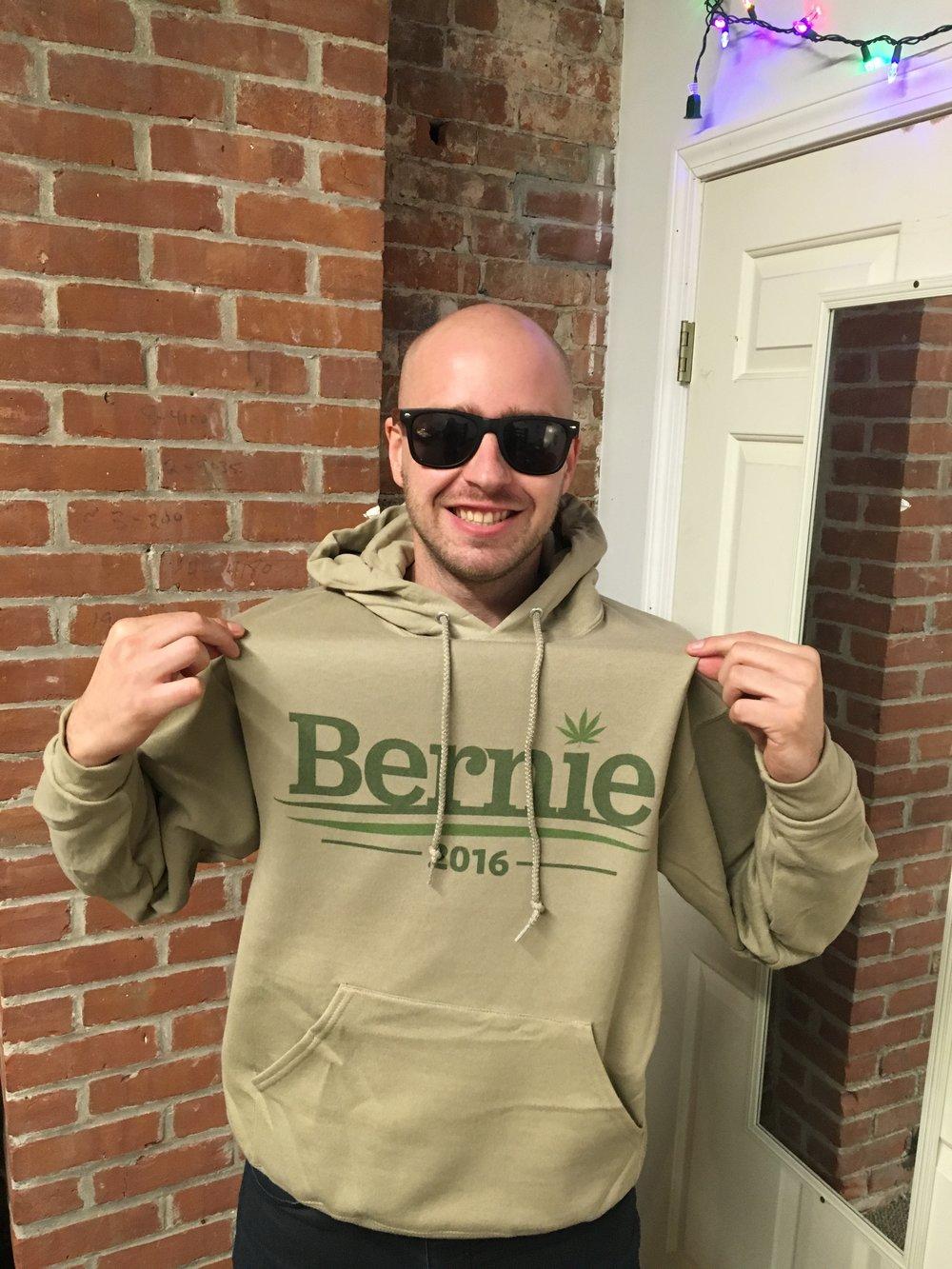 "Custom ""Bernie CANN"" Sweatshirt designed in January 2016..."