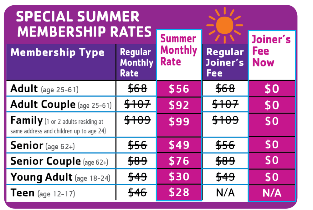 Click here to learn more about summer rates