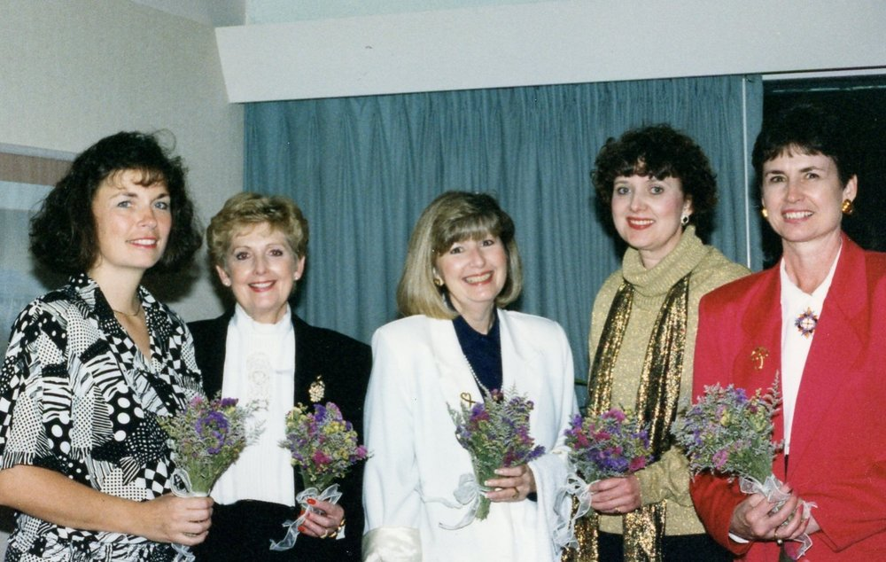 Board Retreat, 1995: Luann, Jackie, Susie, Karen, Christine