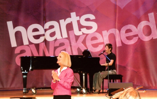 Anne Barbour and Anne Lotz at Hearts Awakened conference, 2012