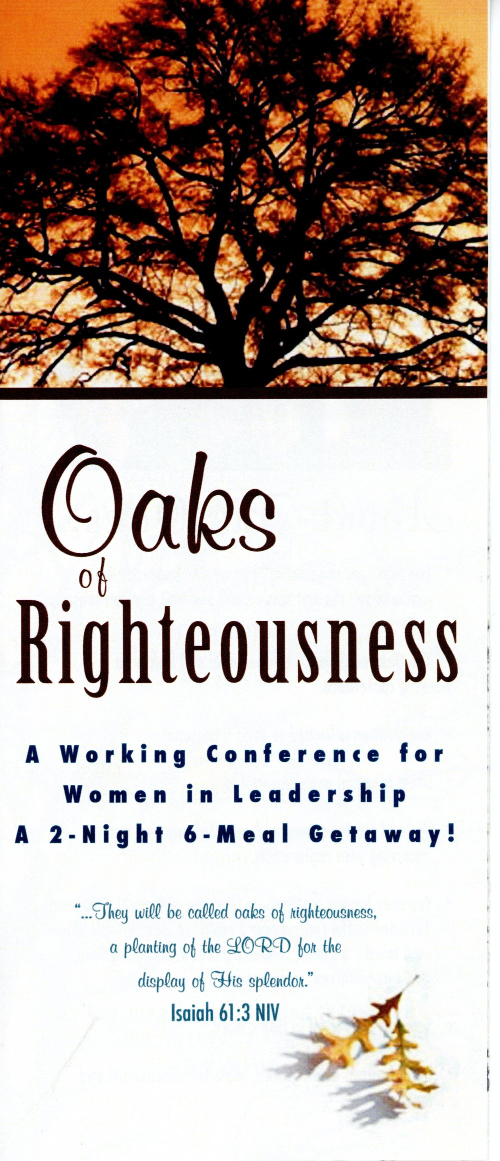 The Oaks - a Working Conference for Women in Leadership