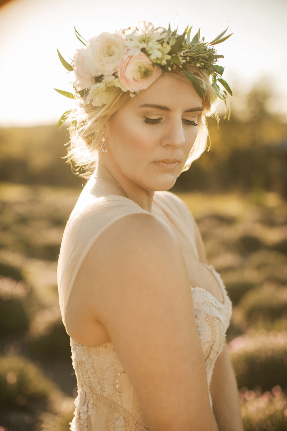Coming up with Claire's bridal makeup was so laid back and effortless. She knew she wanted something very natural; glowy skin, golden eyeshadow, but we also had a lot of fun experimenting with the boho dots.