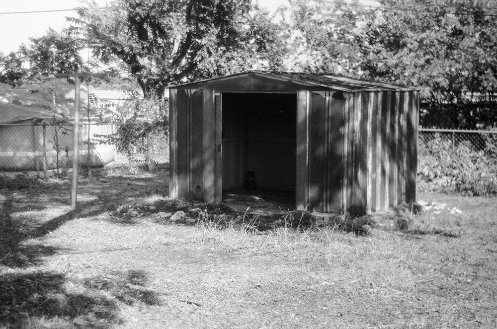 Shed in my Grandparents back yard. Zorki 4 | Ilford HP5