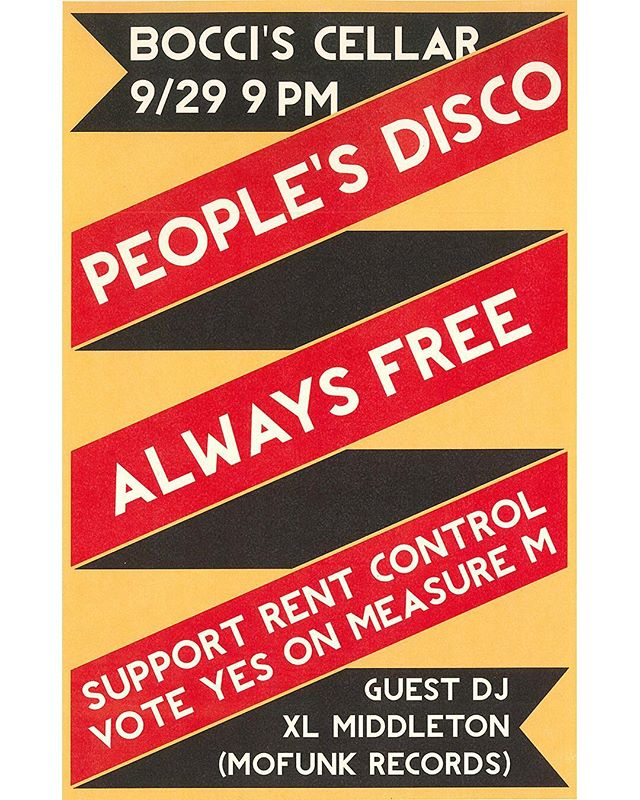 Saturday 9/29 I'll be sliding northward to drop some wax in Santa Cruz with @peoples.disco. We gonna party for the cause see you there 🗳👍Ⓜ️