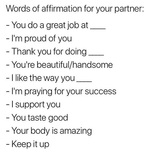 Love this 💙 our words are powerful.. let's uplift each other through them! 🤗⠀ #ConsciousCouples #Compliments #Affirmations