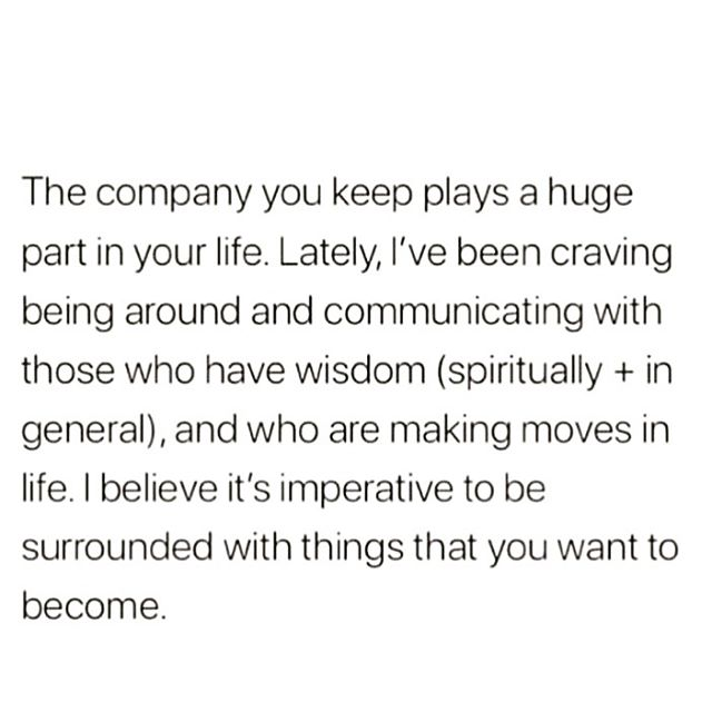 👏💯❤️ Considering that we are energetic beings, it makes sense that when we are in each other's energetic fields (aka in each other's company), we're sharing data through vibrations and frequencies.⠀ Consider what type of energy you're absorbing in certain environments and around the people you surround yourself with regularly.⠀ Is that the type of energy you desire long-term? 🤔
