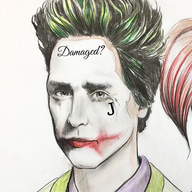 Guess I wasn't far off. My original sketch with a few new additions. @jaredleto @margotrobbie @davidayermovies #jared #leto #jaredletojoker #suicidesquad #harleyquinn #harley #batman #batmanvssuperman #batmansuperman