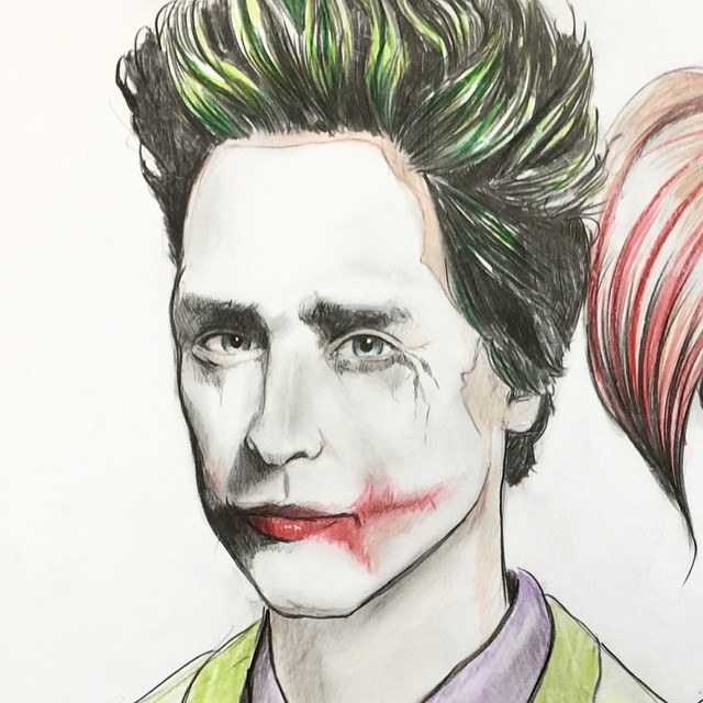 What do you guys think? I think he'll nail it. I guarantee that he won't look anything like this. I think they'll go with a much more clean cut, razor sharp look than Heath. @jaredleto @margotrobbie #joker #suicidesquad #jaredleto #thejoker #harleyquinn #coreywyer