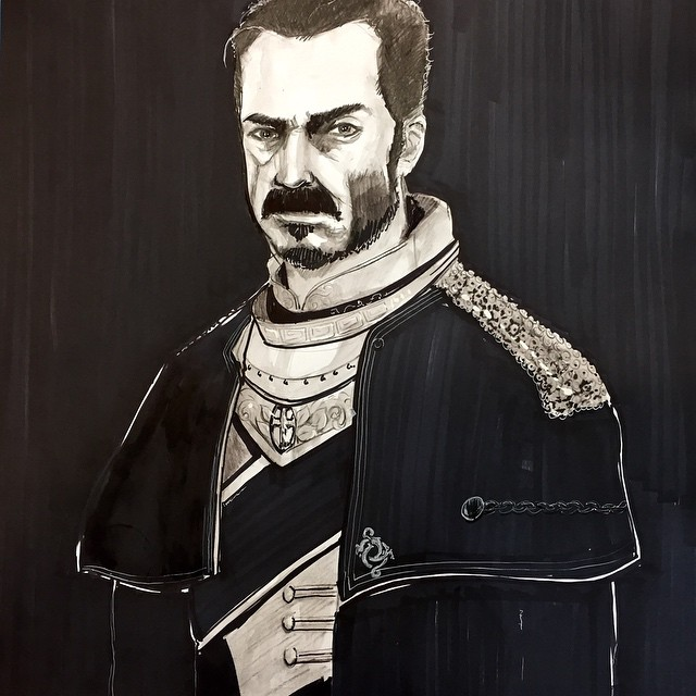 The Order 1886. Galahad. Best gaming moustache since Mario. #theorder #galahad #painting #artwork #jbhi-fi #coreywyer