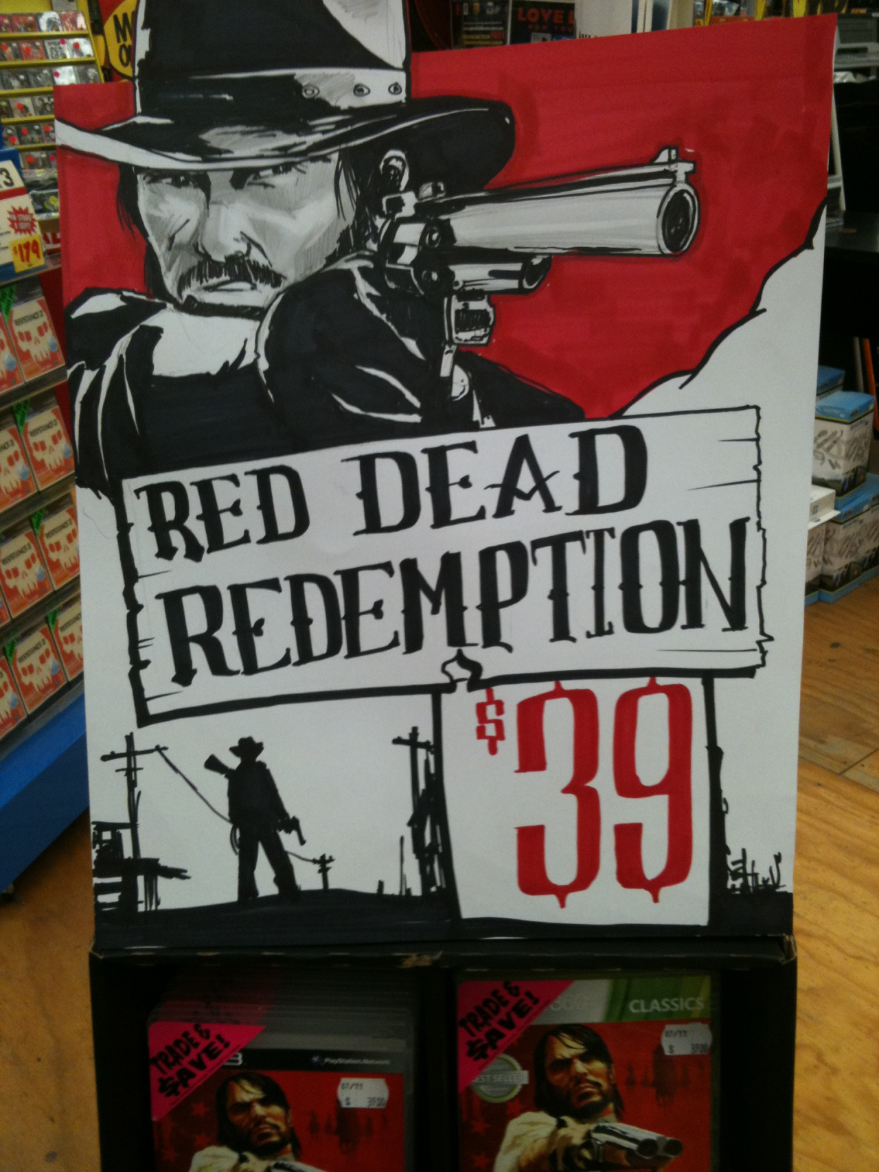 An old sign I did for Red Read Redemption.
