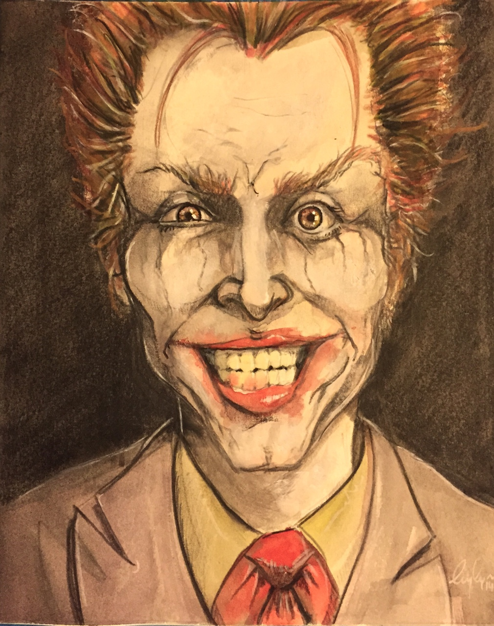 I did this painting of The Joker with the purpose of auctioning it off. The proceeds will go to benefit Norm Breyfogle (Legendary Batman comic artist) who recently had a terrible stroke. Link Below: http://pages.ebay.com/link/?nav=item.view&alt=web&id=271727833538