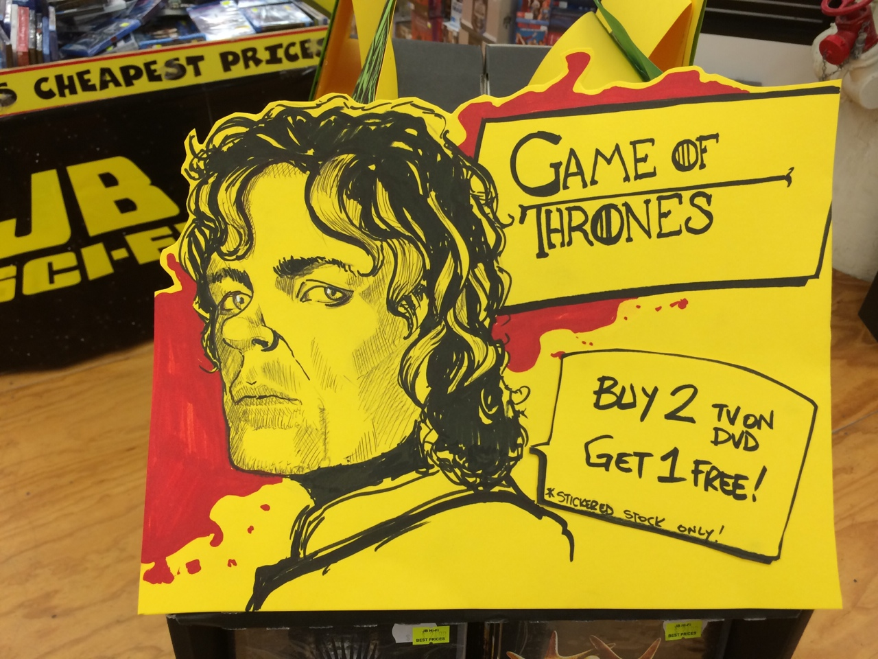 Quick Game of Thrones sign I knocked up at work.  Make sure you brutally attack the follow button!  or get someone else to do it if you are too small. ;)