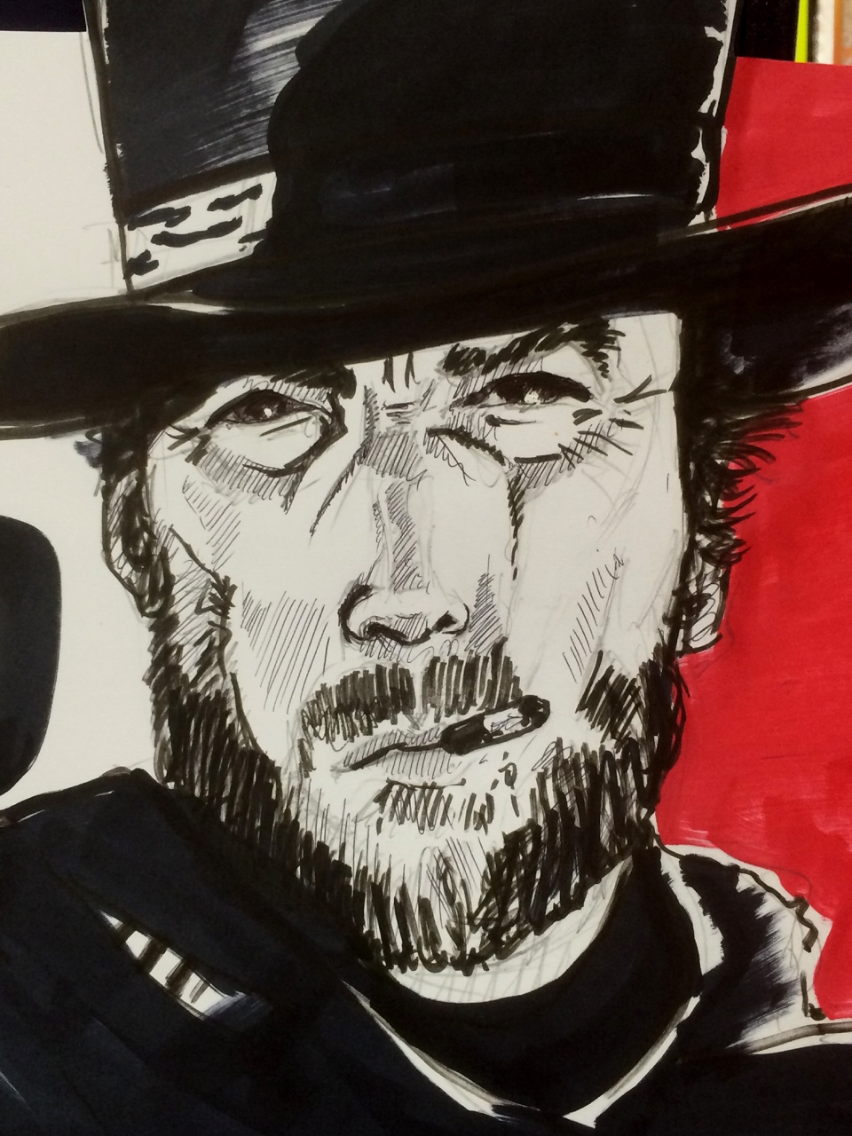 Knocked up this quick Clint Eastwood for a display bin. Remember to hit follow, and make my day!