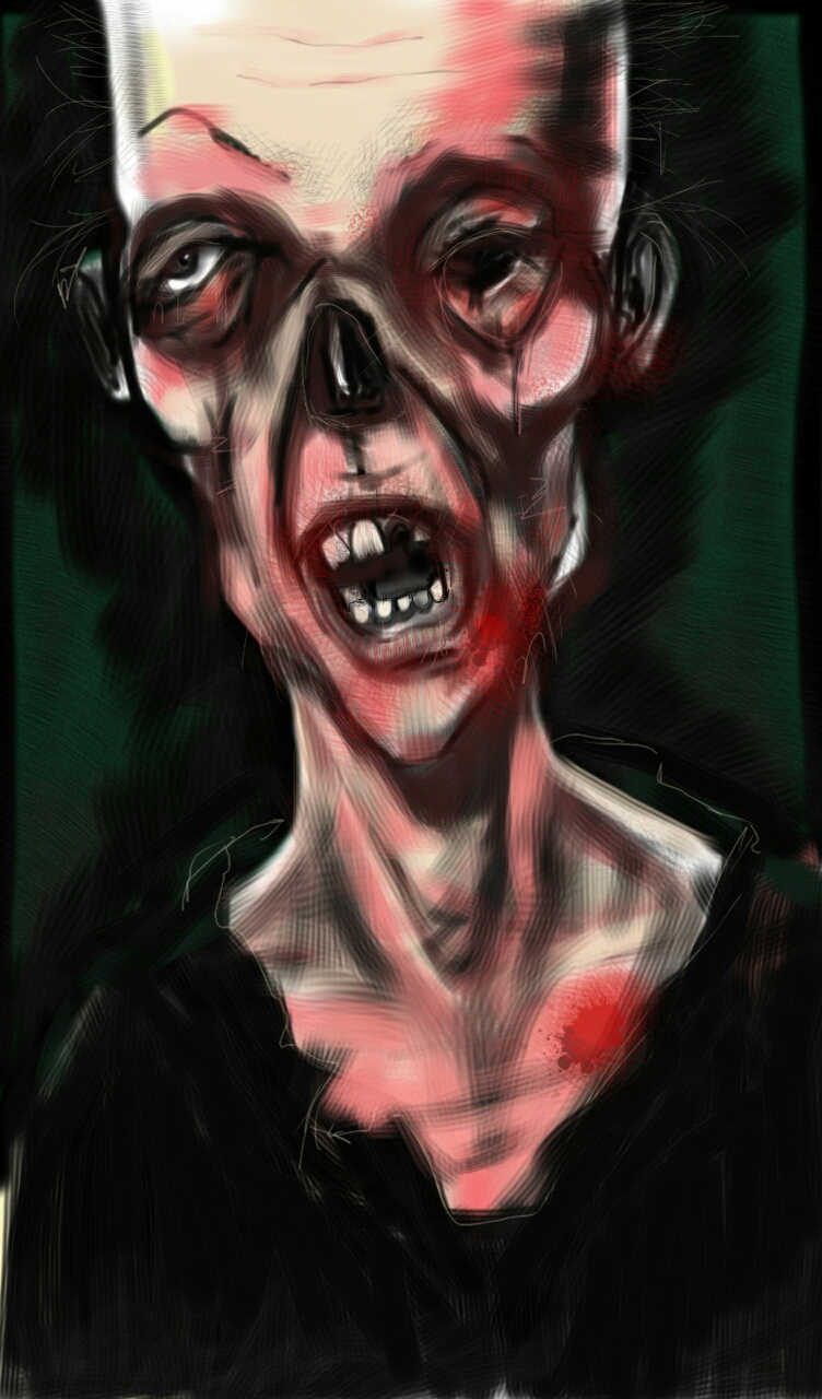 A zombie I did waiting for jury duty on an old android tablet. You use whatever tools you can get your hands on..right?