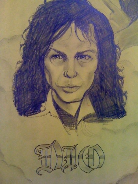 A portrait I did of the late Ronnie James Dio, also for work but more out of respect. I wish I had had more time to do it properly.