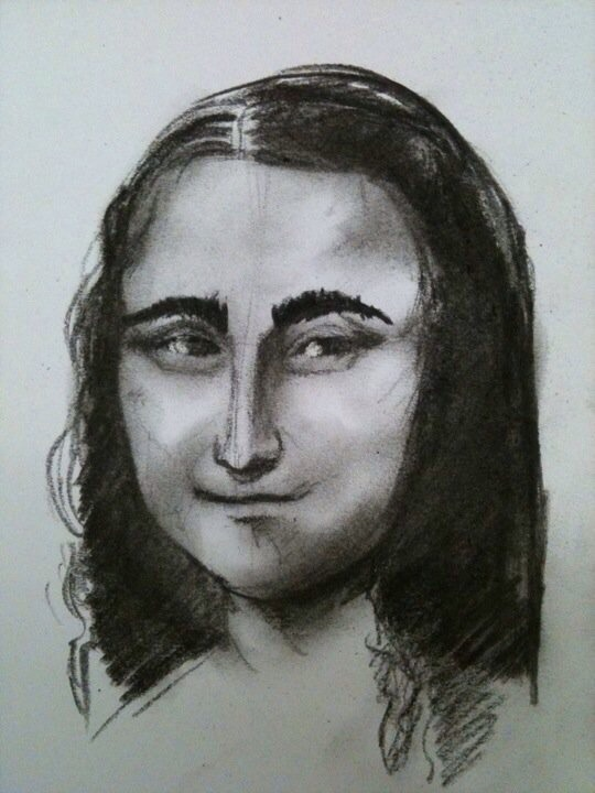 I was on my lunch break one day at work, and wondered 'what would The Mona Lisa look like with eyebrows. LOL.