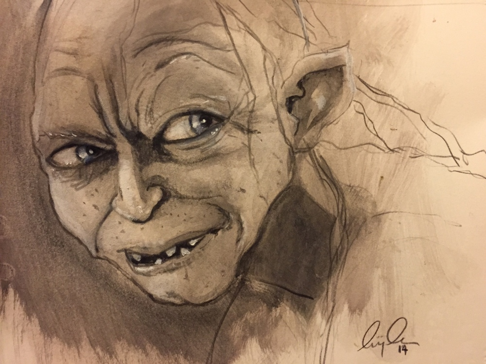 103547776006 - gollum watercolour and black pencil it hits the_1.jpg