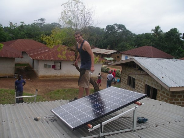 Installing solar in Liberia (2007)