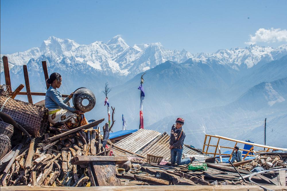 Nepal Earthquake 2015: Photo taken by the  Asian Development Bank .