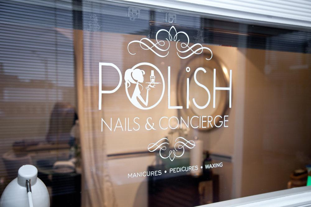 Polish Nails and Concierge Studio Window