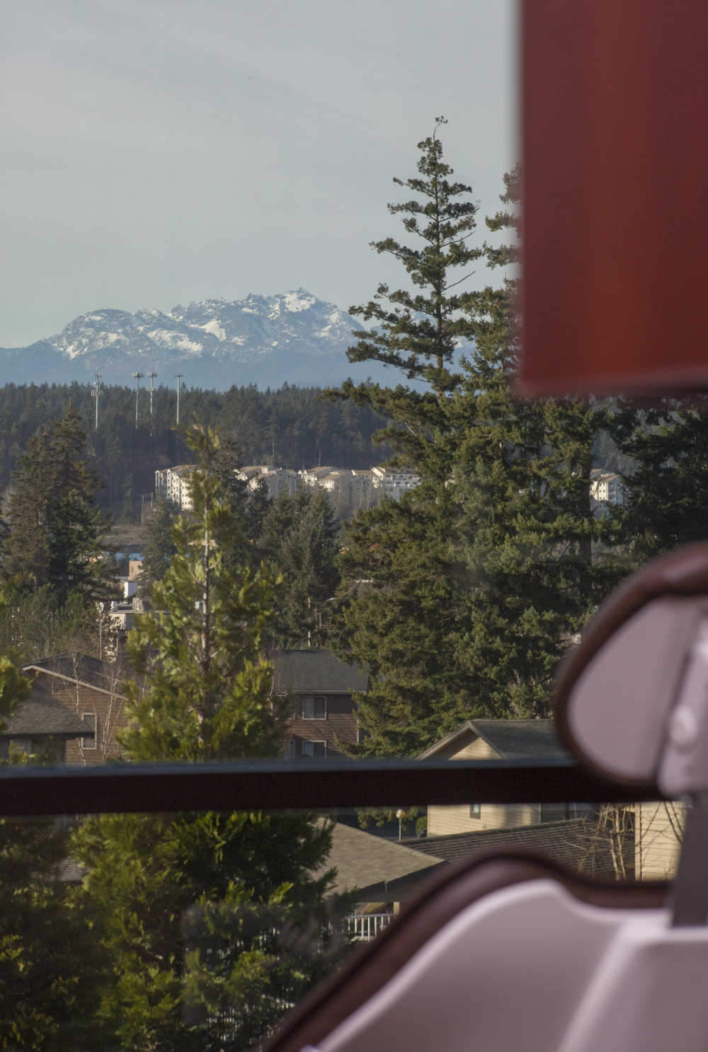 The most relaxing view of the maountains from floor to ceiling windows to enjoy during your dental appointment (Dr. Scott Stewart General Family Dentist, Silverdale dentist)