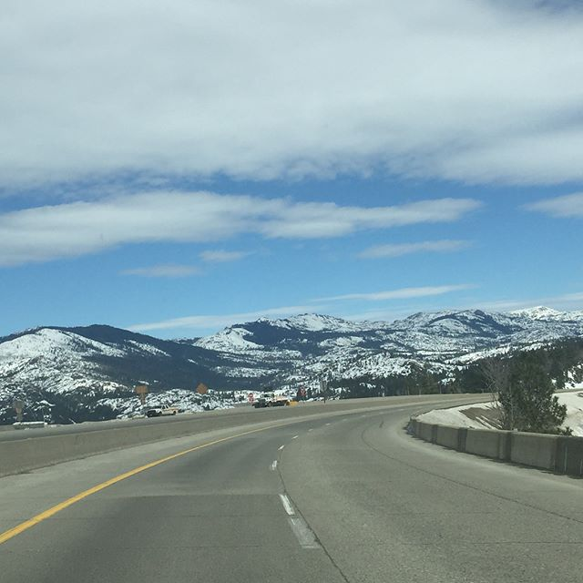 Driving over the #SierraNevadas today via #DonnersPass to get to our next show in #Elko #Nevada! #songanddance #tap #tappers