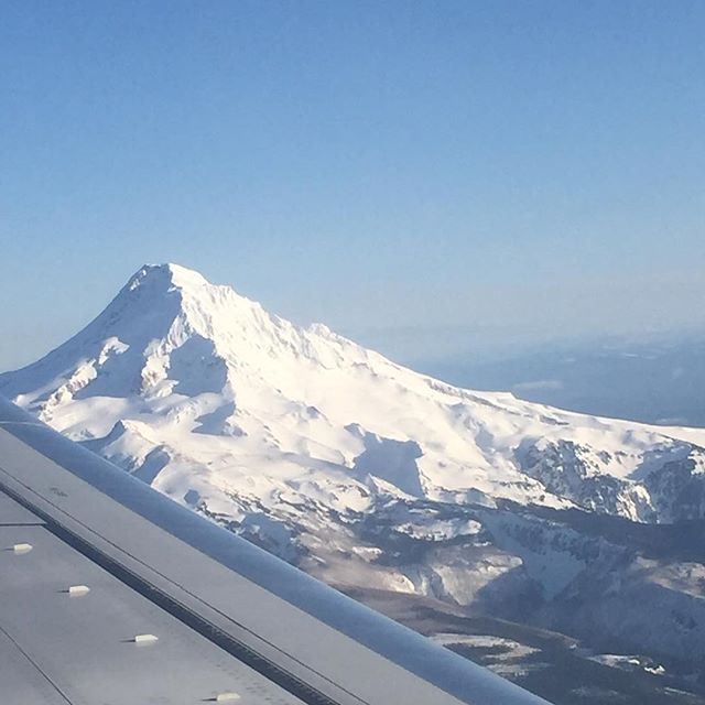 Today's view! @portland @mt.hood_oregon #nofilter