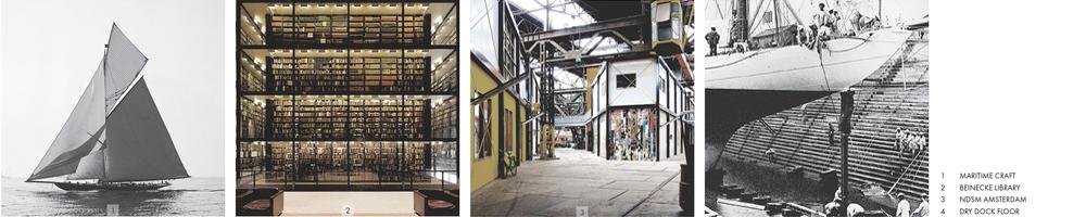 Precedent Studies / Maritime Craft, Bienecke Library, NDSM Shipyard Amsterdamn